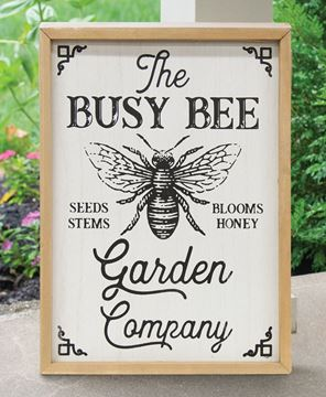 Picture of Busy Bee Garden Company Wood Wall Sign