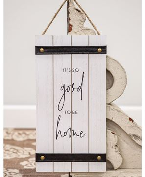 Picture of It's So Good To Be Home Wood Sign w/ Leather Accent