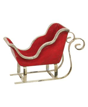 Picture of Rustic Red & White Sleigh