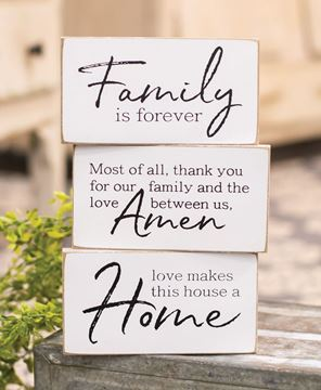 Picture of Family is Forever Wooden Block, 3 asstd.