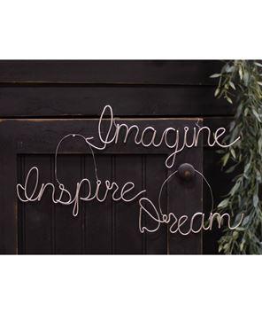 Picture of Inspire, Imagine, Dream Script Metal Ornament, 3/Set