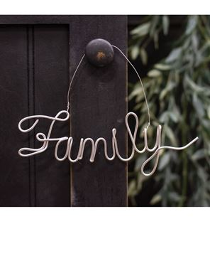 Picture of Family Script Metal Ornament