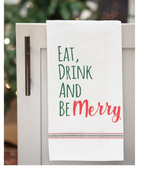 Picture of Eat, Drink, And Be Merry Dish Towel