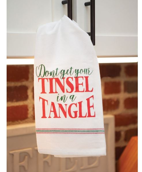 Picture of Tinsel in a Tangle Dish Towel