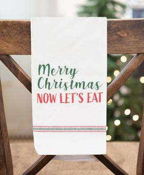 Picture of Now Let's Eat Dish Towel