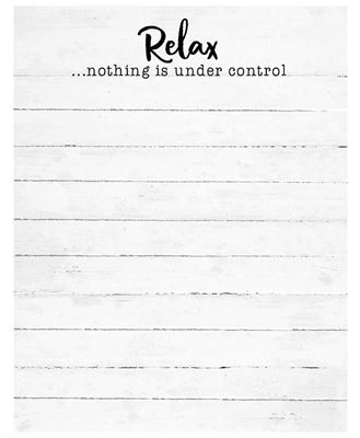 Picture of Nothing Is Under Control Notepad