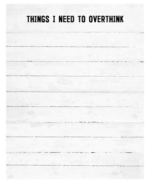 Picture of Overthink Notepad