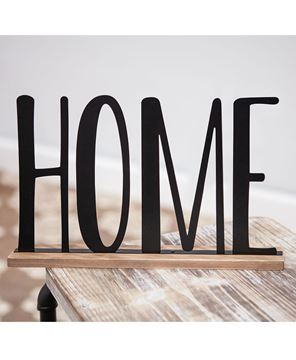 "Picture of Standing Metal Word ""Home"" Sitter"