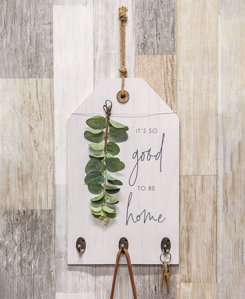 Picture of It's So Good to be Home Floral Sign w/ Hooks