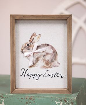 Picture of Happy Easter Watercolor Framed Sign