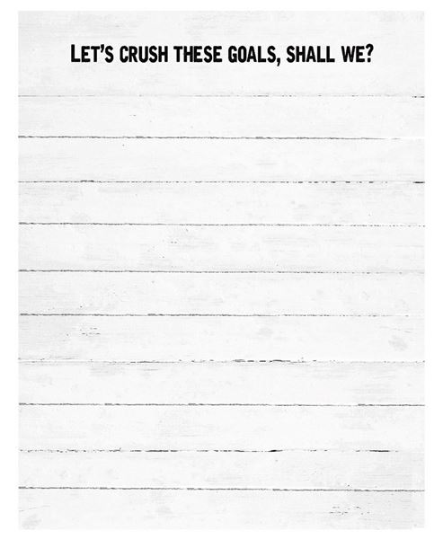 Picture of Crush Goals Notepad