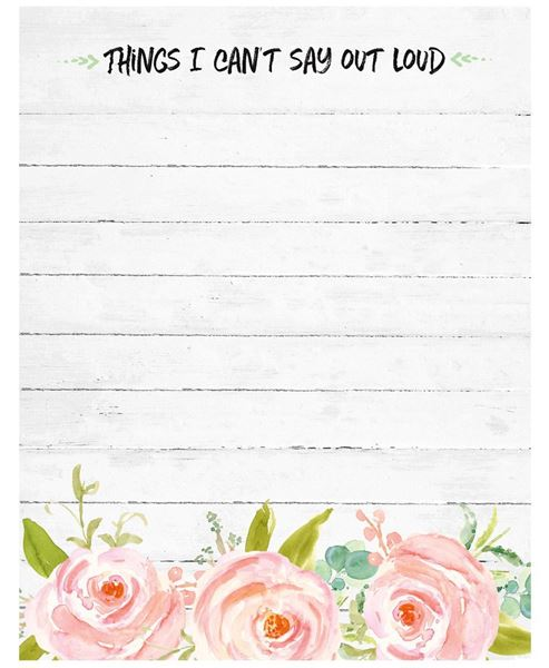 Picture of Things I Can't Say Out Loud Notepad