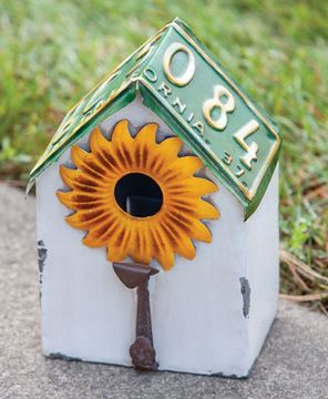 Picture of Vintage License Sunflower Birdhouse