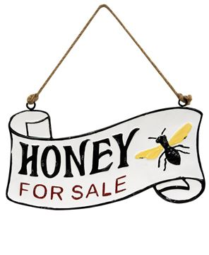 Picture of Honey For Sale Vintage Metal Hanger