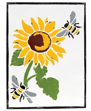 Picture of Vintage Sunflower Metal Wall Plaque