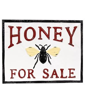 Picture of Honey For Sale Vintage Metal Wall Plaque