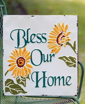 Picture of Bless Our Home Vintage Metal Wall Plaque