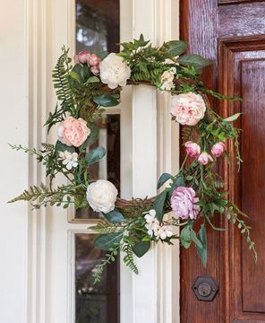 Picture of Spring Peony Wreath, 22""