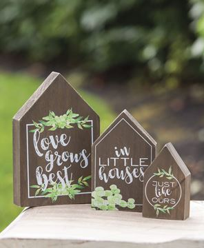 Picture of Love Grows Best In Little Houses Wood Block Set