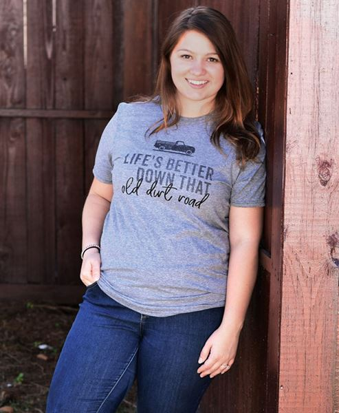 Picture of Old Dirt Road T-Shirt, Gray