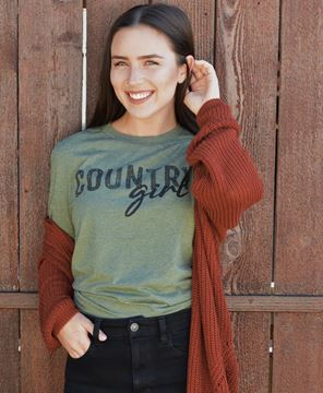Picture of Country Girl T-Shirt, Green - XXL