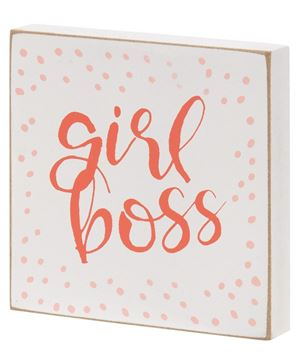 Picture of Girl Boss Block Sign