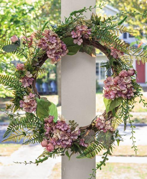 "Picture of Mauve Hydrangea Wreath, 22"""