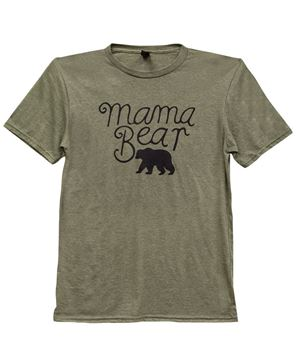 Picture of Mama Bear T-Shirt, Heather City Green, XXL