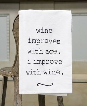 Picture of Wine Improves Dish Towel