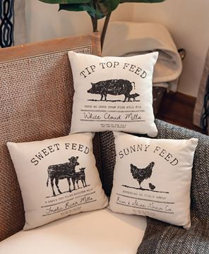 Picture of Sweet Feed Farmhouse Pillow