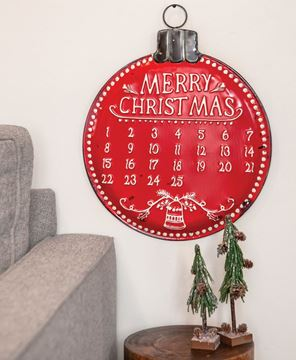Picture of Metal Bulb Christmas Countdown Calendar