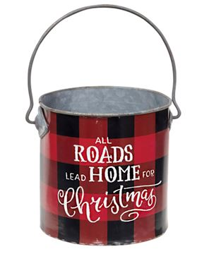 Picture of Roads Lead Home at Christmas Buffalo Check Bucket