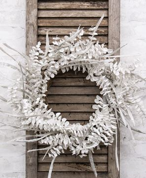 Picture of Winter White Sparkle Eucalyptus Wreath