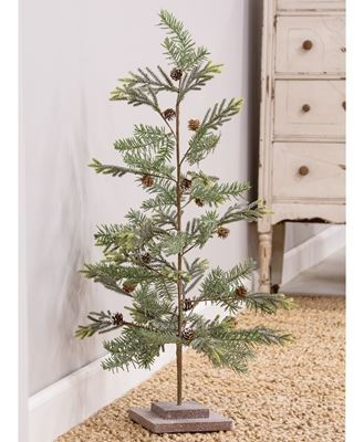 """Picture of 32"""" Glittered Tree w/ Glittered Base"""