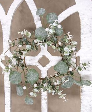 Picture of Glitter Frosted Eucalyptus Mini Wreath