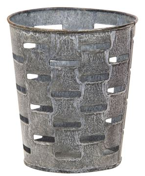 """Picture of Galvanized Olive Bucket 5.25"""""""
