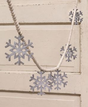 Picture of Wooden Snowflake Bead Garland