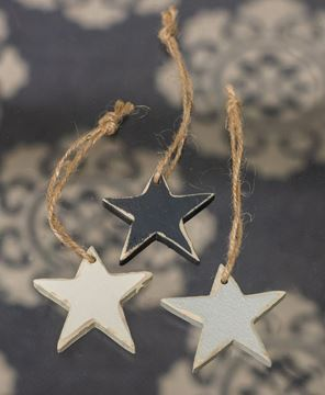 Picture of 3/Set Small Wooden Star Ornaments