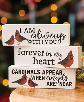 Picture of Always With You Cardinal Blocks, 3/set