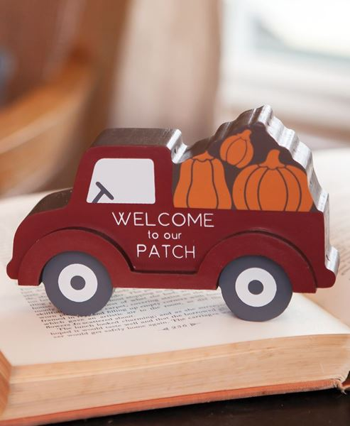 Picture of Pumpkin Patch Red Truck Chunky Sitter