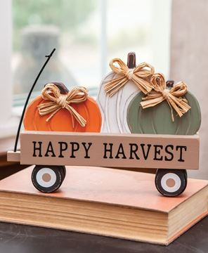 Picture of Happy Harvest Pumpkin Wagon Sitter