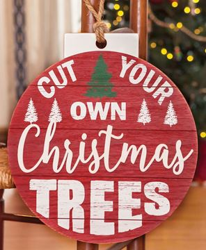 Picture of Cut Your Own Christmas Trees Bulb Sign