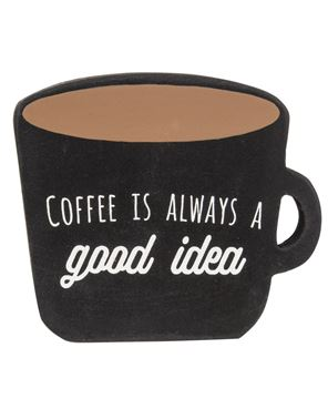 Picture of Coffee Freestanding Mug Sign, 4 Asstd.