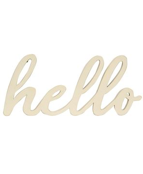 Picture of White Hello Cut-Out Script Hanger