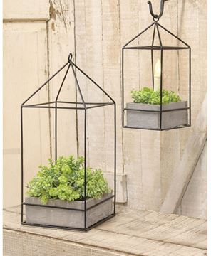 Picture of Plant Holder w/ Metal Frame 2/set