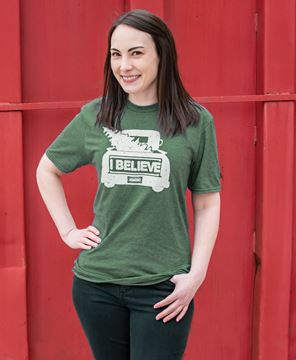 Picture of I Believe Tee,  Heather Dark Green