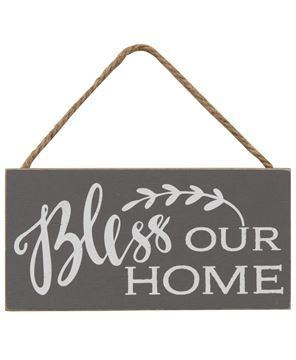 Picture of Bless Our Home Rope Hanging Sign