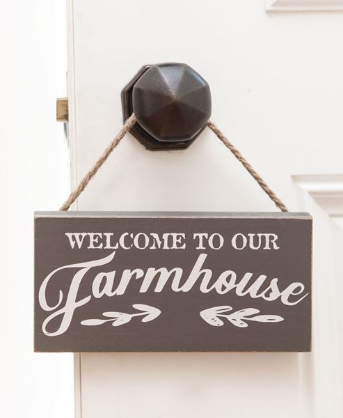 Picture of Farmhouse Rope Hanging Sign