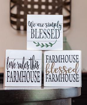 Picture of Farmhouse Shiplap Box, 3 Asstd.