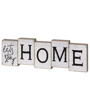 Picture of Let's Stay Home Staggered Block Sitter